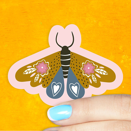 Pink Lemonade Moth Decal