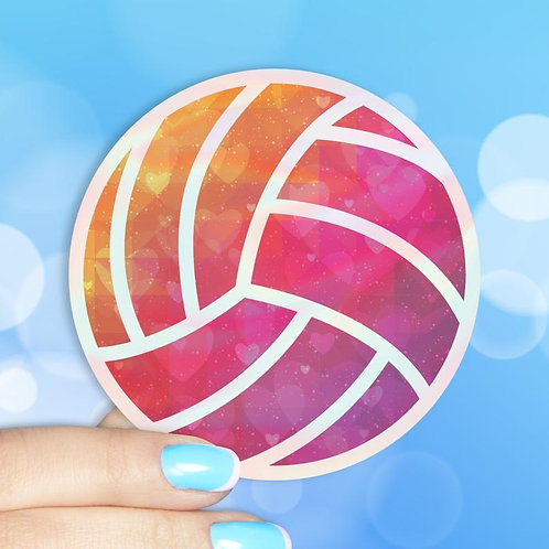 Volleyball Love Holographic Decal
