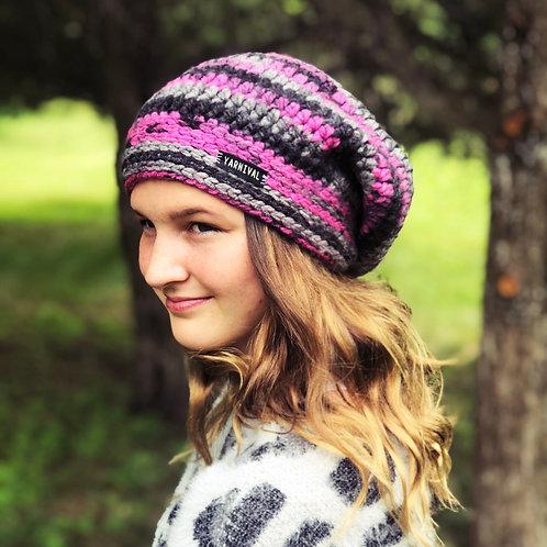 Black Raspberry Slouch Hat