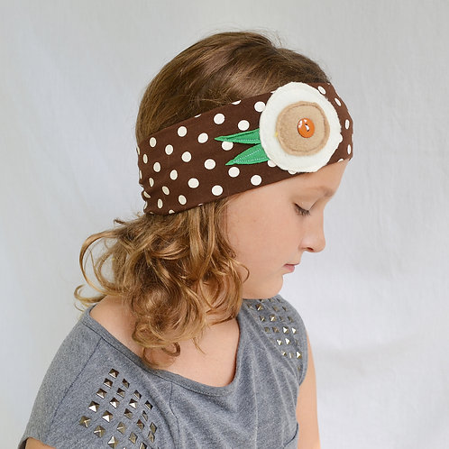 Brown Polka Dot Headband