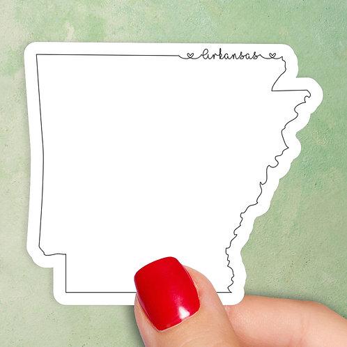 Arkansas Love Decal