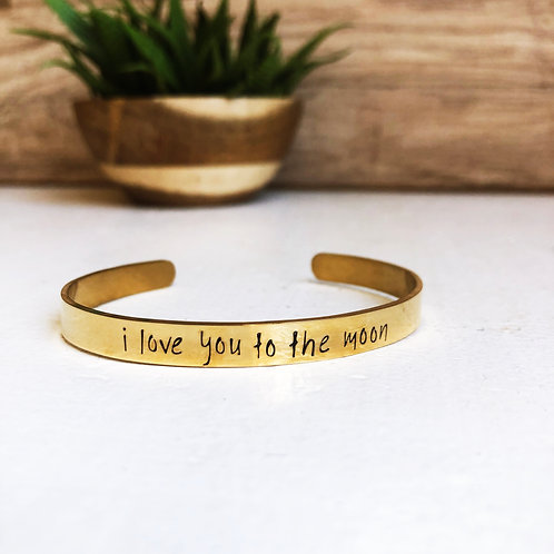 i love you to the moon - gold