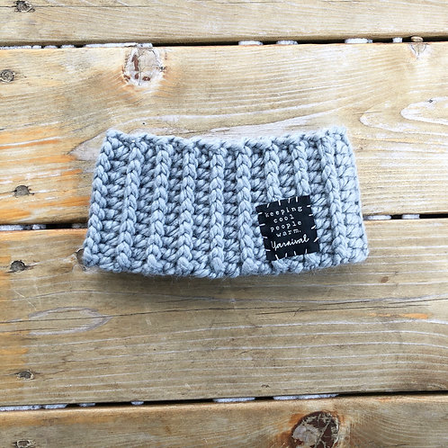 Lt Gray Winter Headband