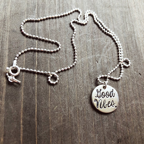 Good Vibes. Necklace