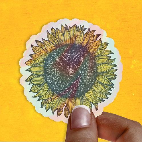 Sunflower Hologram Decal