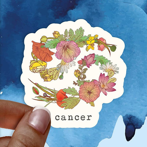 Cancer Floral Decal