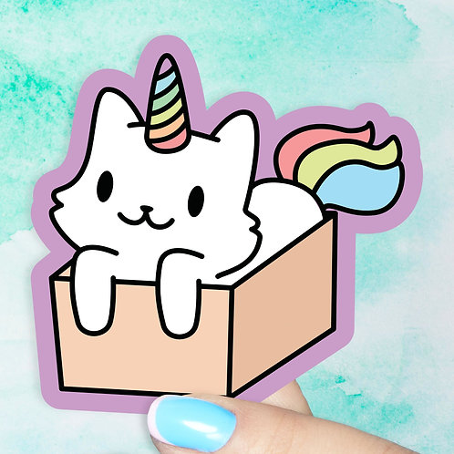 Caticorn in a Box Decal