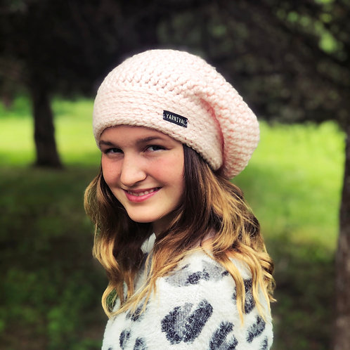 Softest Pink Slouch Hat