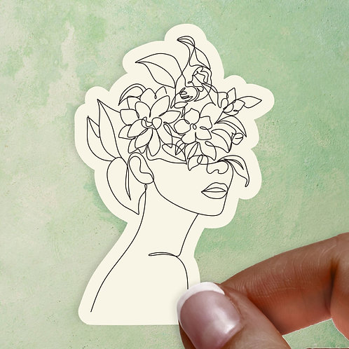 Floral Femme Ivory Decal