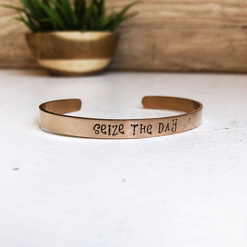 SEIZE THE DAY - rose gold