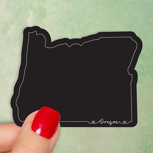 Oregon Love Decal