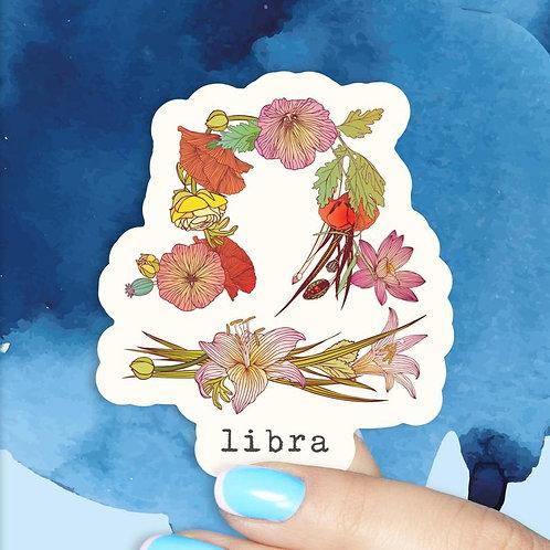 Libra Floral Decal
