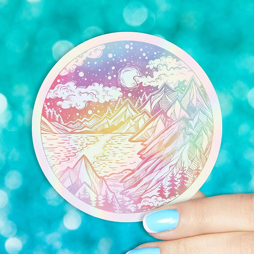 Starry Forest Night Holographic Decal