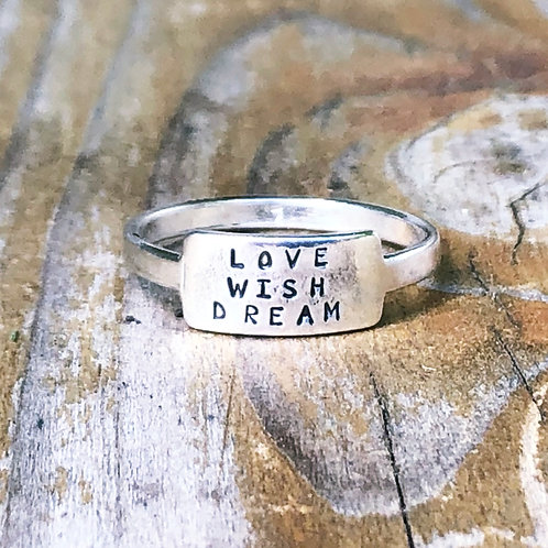 Love Wish Dream tab ring
