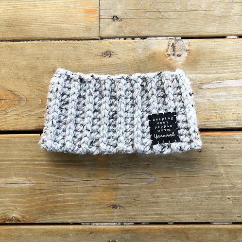 Gray Marble Winter Headband