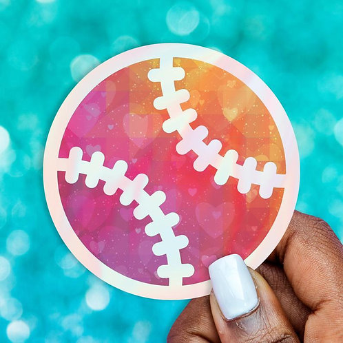 Softball Love Holographic Decal