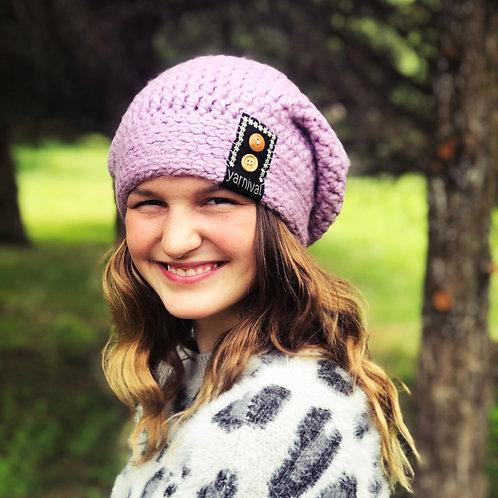 Lavendar w/buttons Slouch Hat