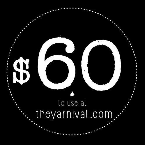 $60 Gift Code