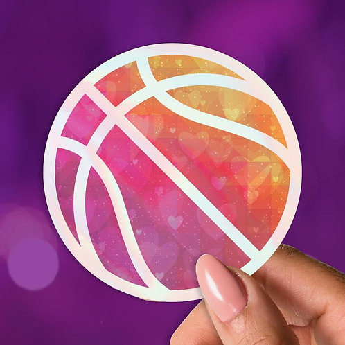 Basketball Love Holographic Decal