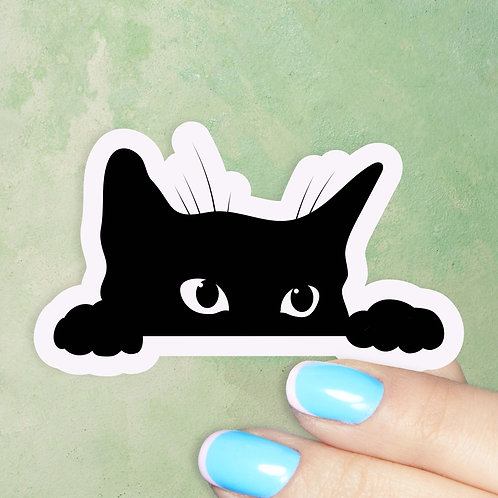 Sneaky Kitty Decal