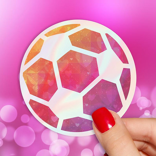 Soccer Love Holographic Decal