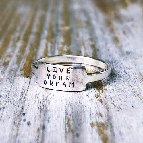 Live Your Dream tab ring