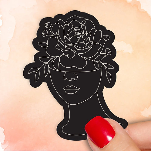 Floral Femme Noir Decal
