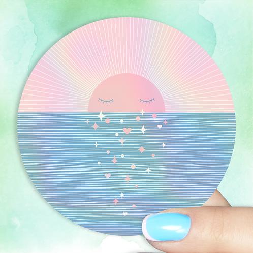 Sunset Sparkle Hologram Decal