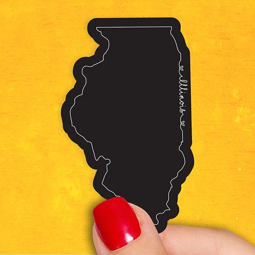 Illinois Love Decal