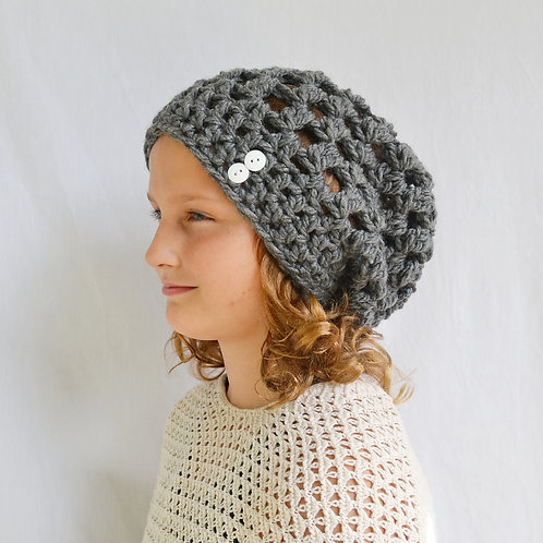 Charcoal Gray Slouch Hat
