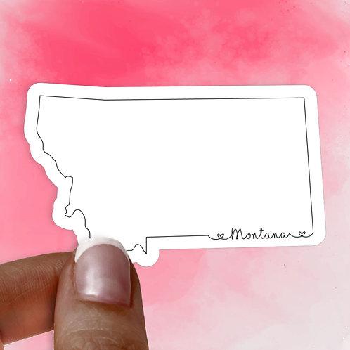 Montana Love Decal