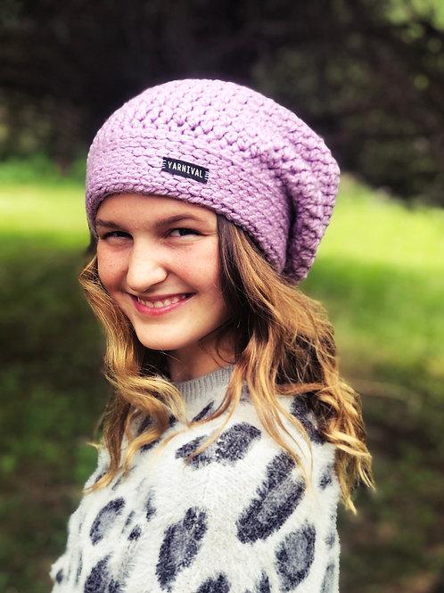 Lavender Slouch Hat