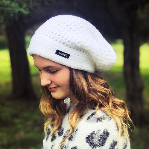 White Slouch Hat