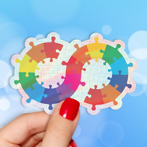 Endless Possibilities Autism Holographic Decal