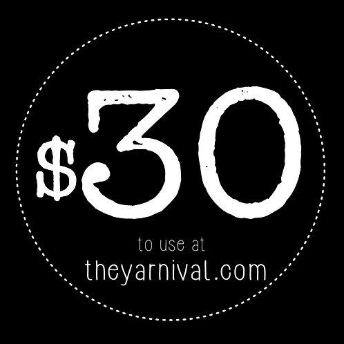 $30 Gift Code