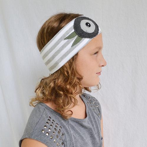 Gray Stripe Headband
