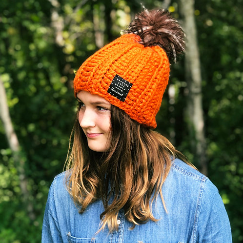 Pumpkin w/Feather Pom