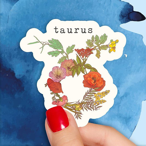 Taurus Floral Decal