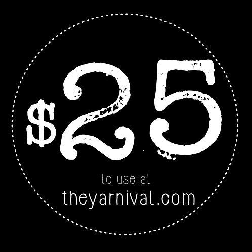 $25 Gift Code
