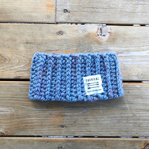 Periwinkle n Orangey Winter Headband