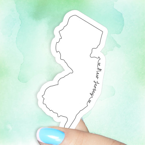 New Jersey Love Decal