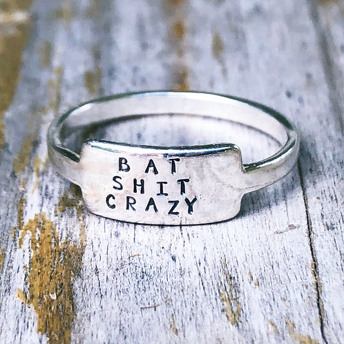 Bat Shit Crazy tab ring