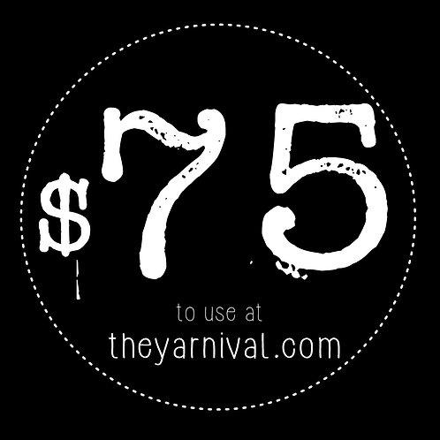 $75 Gift Code