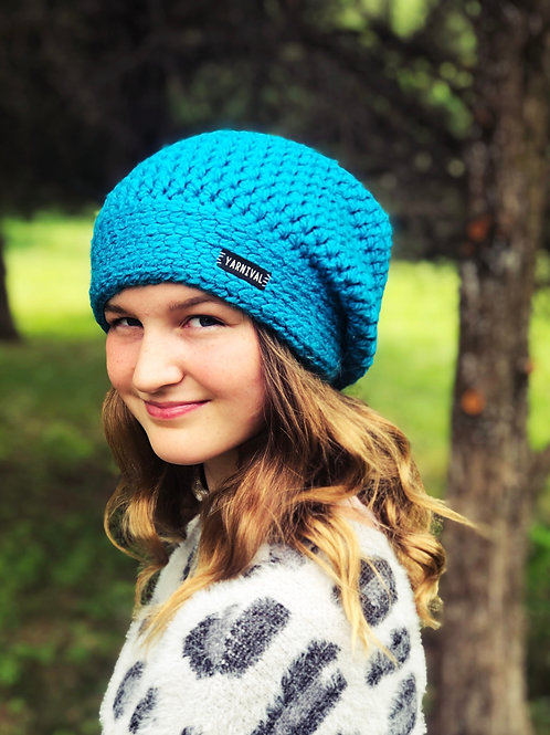 Turquoise Slouch Hat