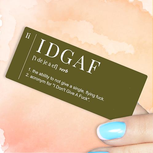 IDGAF Decal