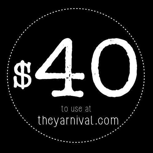 $40 Gift Code