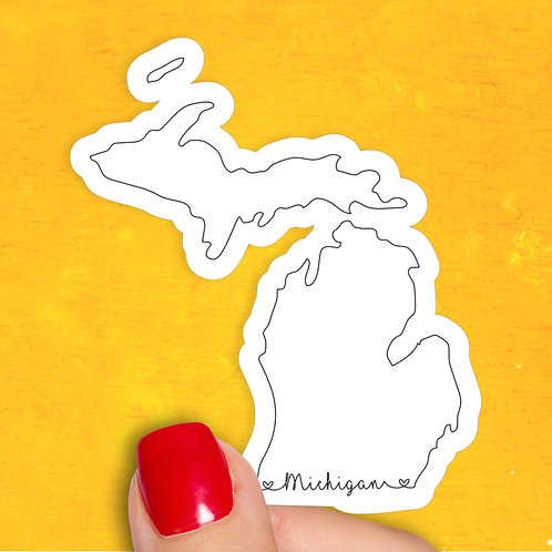 Michigan Love Decal