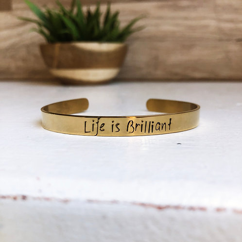 Life is Brilliant - gold