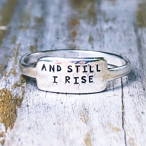 And Still I Rise tab ring