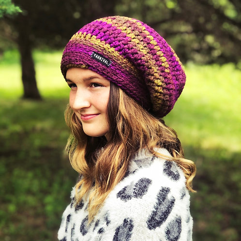 Eggplant Slouch Hat